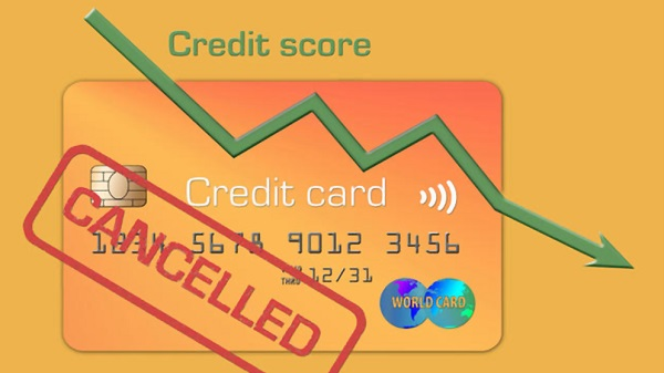 closing all your old credit card accounts