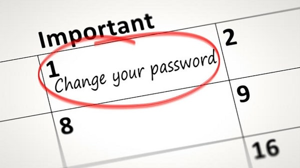 keep changing your password