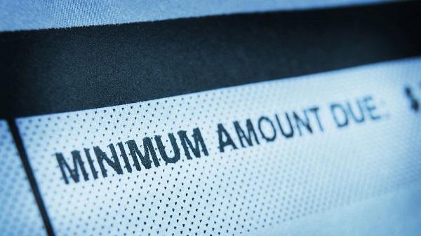 making minimum payments