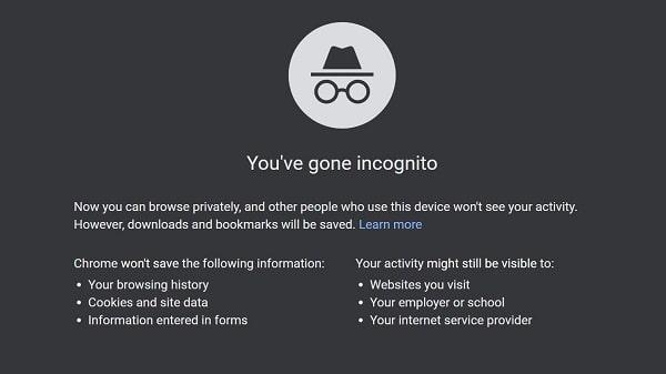 use incognito
